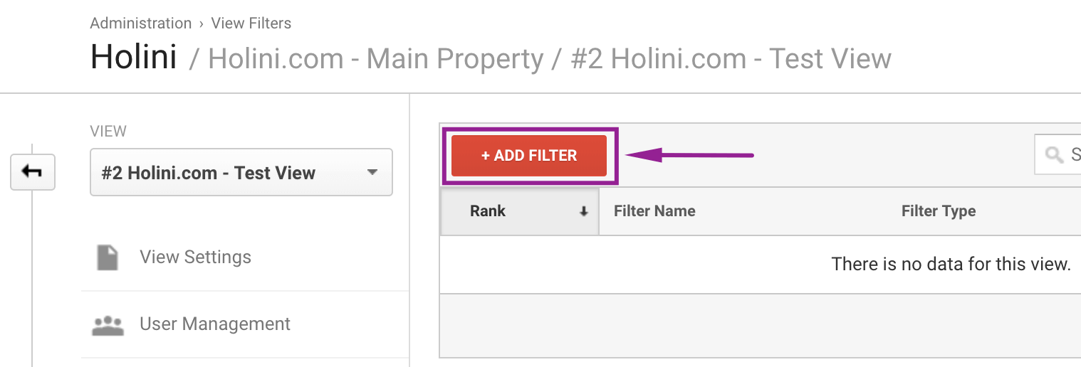 How to Fix m/lm/l.facebook.com in Google Analytics: STep 3: add filter google analytics